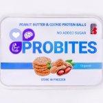 پروتئین بال کره بادام زمینی خام و پروتئین Whey